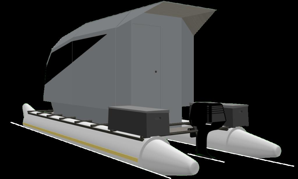 CyberKat 3D Modell Boot Bild3